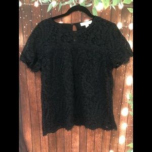 Micheal Micheal Kors Black lace top size large